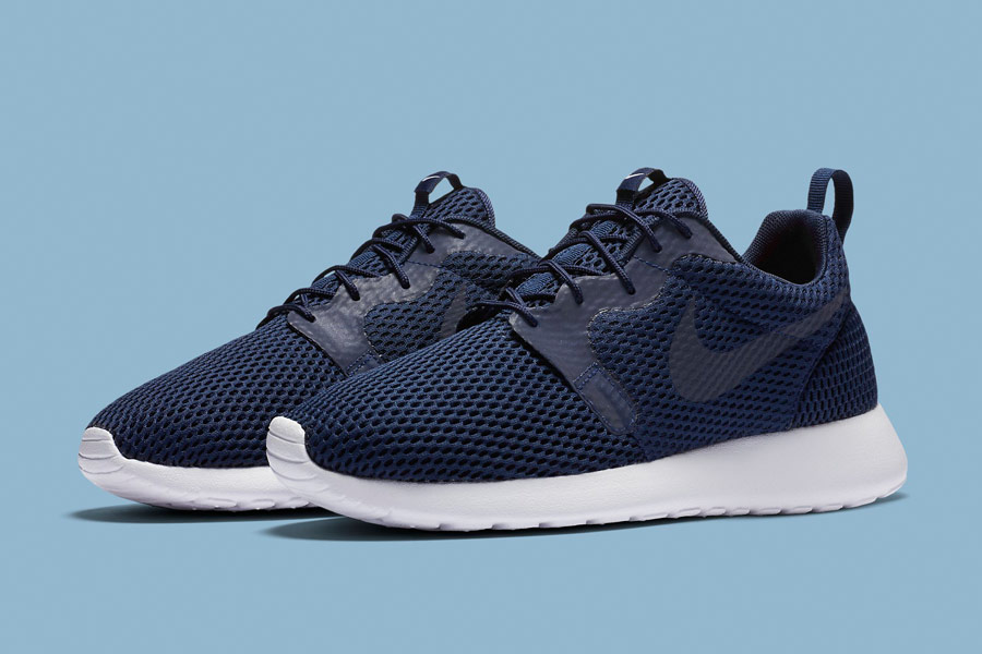Nike Roshe One Hyper Breathe — pánské boty, tenisky — modré, navy blue — běžecké sneakers