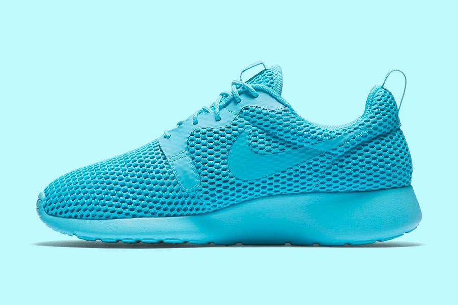 Nike Roshe One Hyper Breathe — dámské tenisky, boty — modré, tyrkysové, blue, cyan — běžecké sneakers