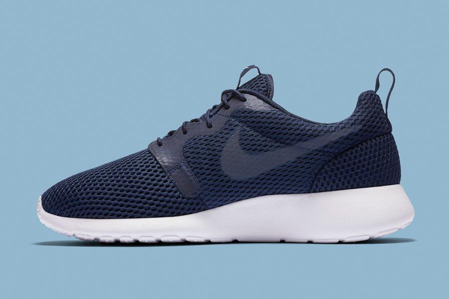 Nike Roshe One Hyper Breathe — pánské tenisky, boty — modré, navy blue — běžecké sneakers