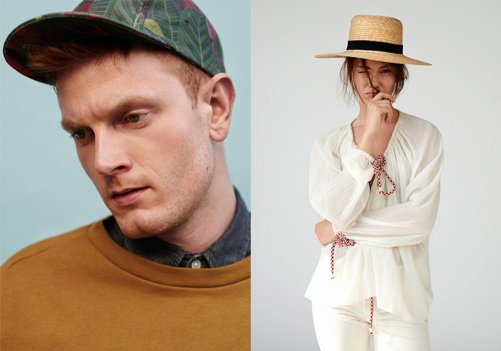 Paris+Hendzel — zelená kšiltovka, 5 panel snapback — slaměný klobouk, slamák