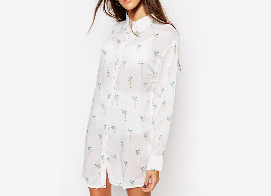 Nicce London — dámská bílá košile — dlouhá blůza — dámské jarní/letní oblečení