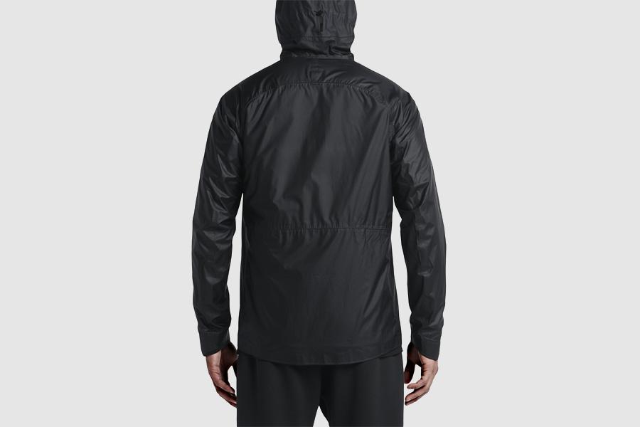NikeLab Transform Jacket — pánská sportovní bunda s kapucí — černá — dvojitá bunda