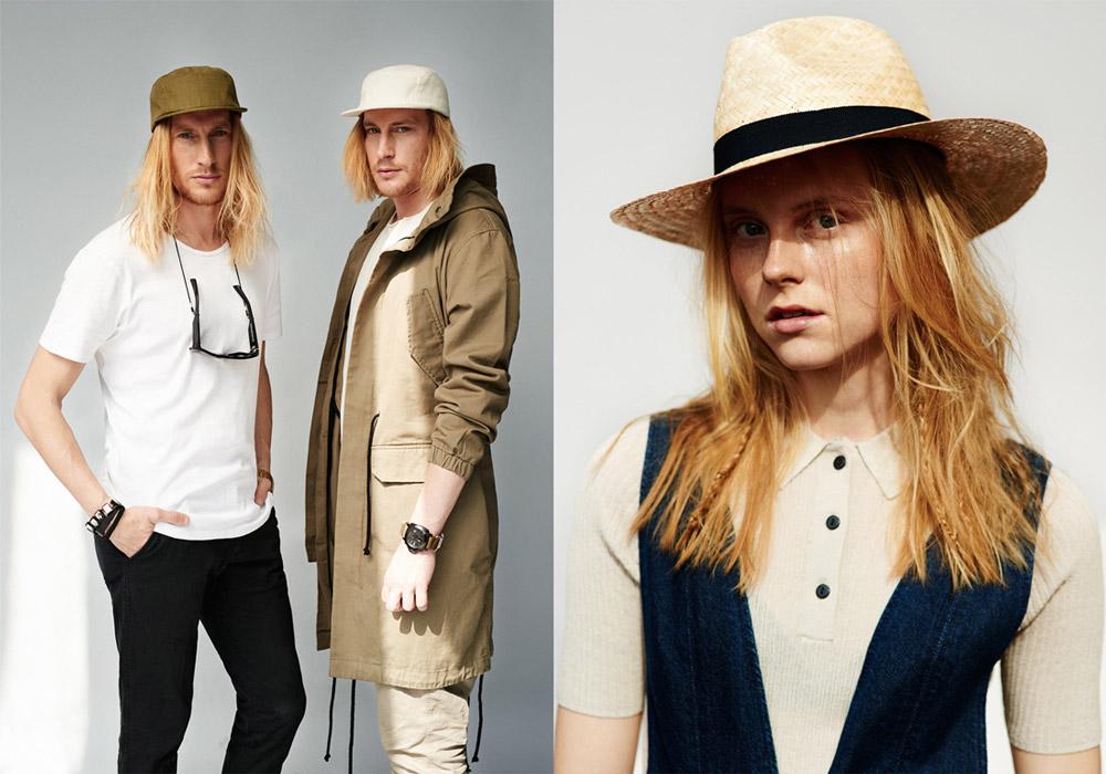 Paris+Hendzel — snapbacks kšiltovky, 5 panel — slaměný klobouk, slamák