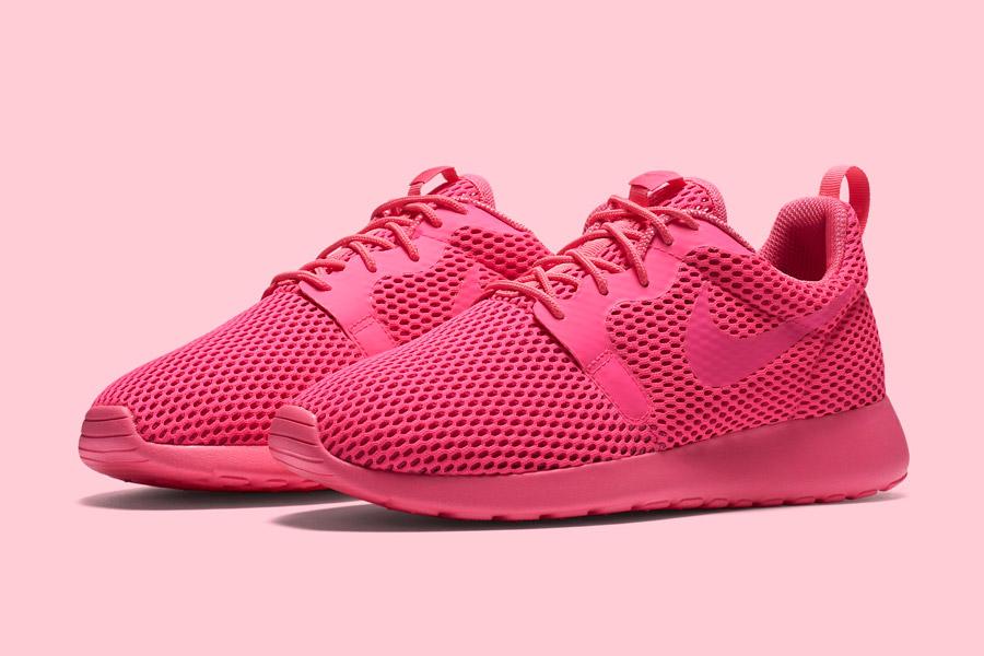 Nike Roshe One Hyper Breathe — dámské boty, tenisky — růžové, pink — běžecké sneakers