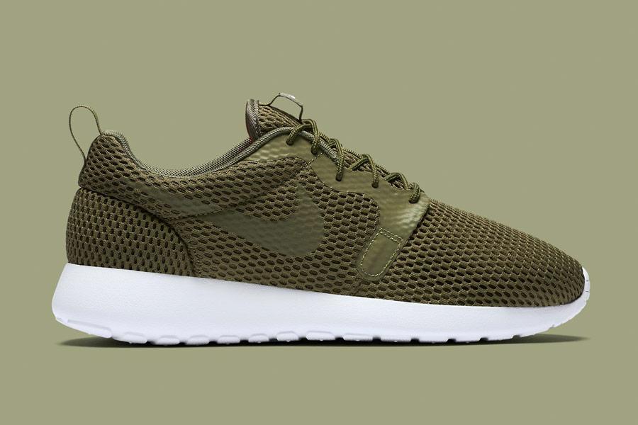 Nike Roshe One Hyper Breathe — pánské boty, tenisky — zelené, olivové, hnědo-zelené, navy green — běžecké sneakers