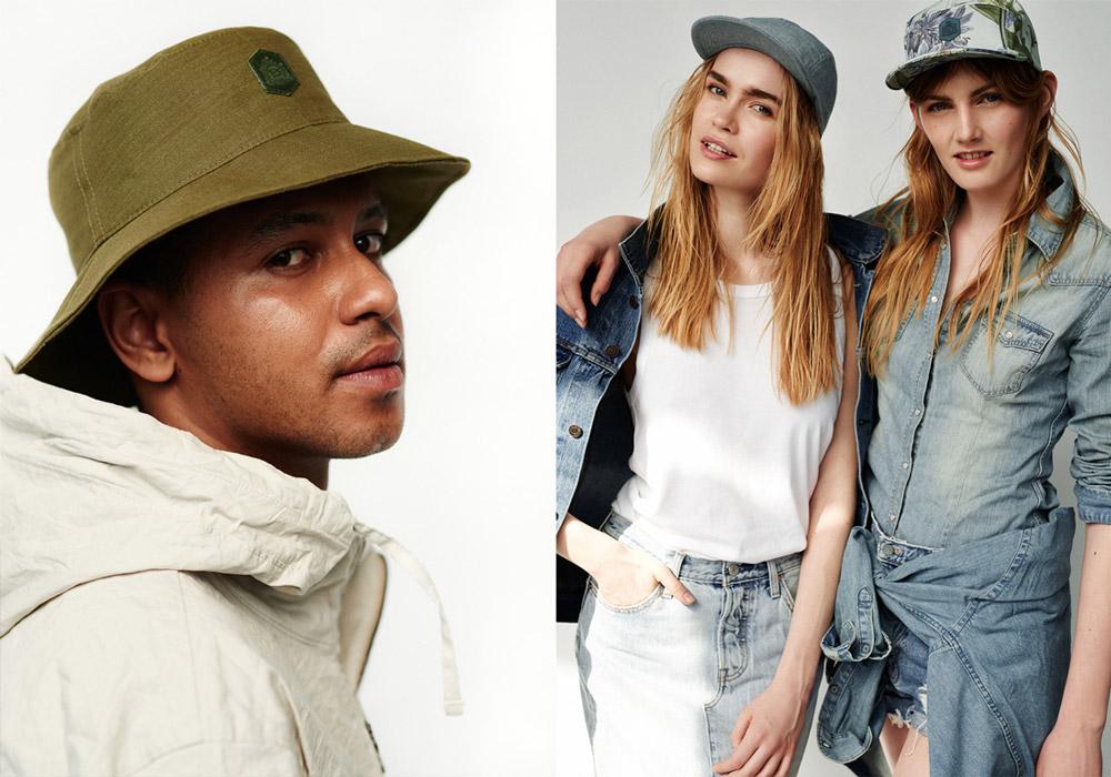 Paris+Hendzel — zelený letní rybářský klobouk — snapbacks kšiltovky, 5 panel