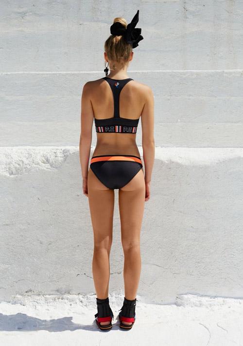 P.E Nation — černé dvoudílné plavky — dámské — dámské sportovní oblečení