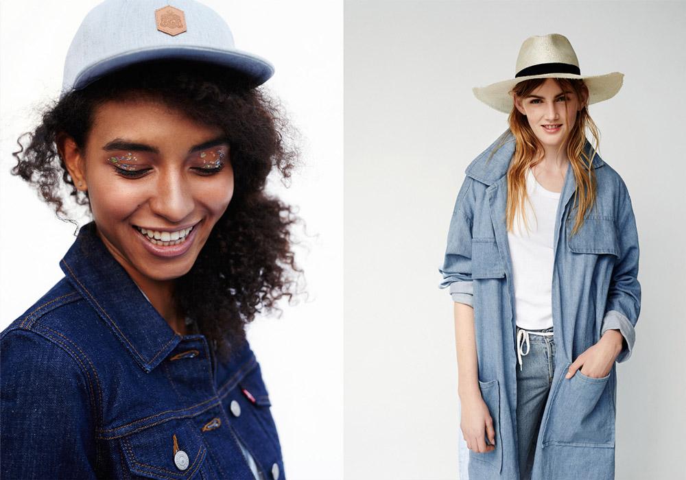 Paris+Hendzel — modrá snapback kšiltovka, 5 panel — slaměný klobouk, slamák