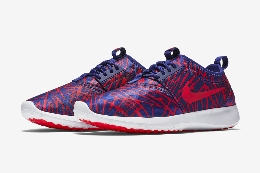 Nike Juvenate Print Wmns — dámské tenisky, boty — modro-červené, vzorované — běžecké sneakers