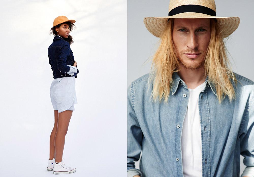 Paris+Hendzel — slaměný klobouk, slamák — oranžová kšiltovka