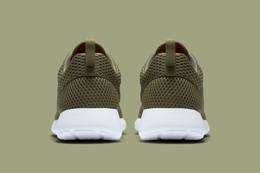 Nike Roshe One Hyper Breathe — zadní pohled — zelené, olivové, hnědo-zelené, navy green