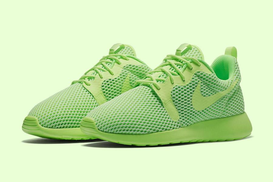 Nike Roshe One Hyper Breathe — dámské boty, tenisky — zelené, green — běžecké sneakers