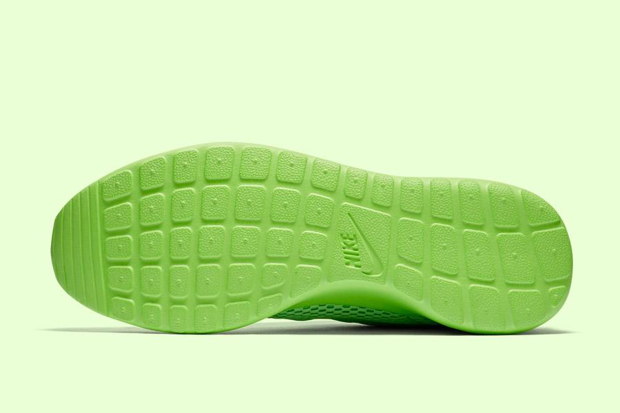 Nike Roshe One Hyper Breathe — podrážka — zelená