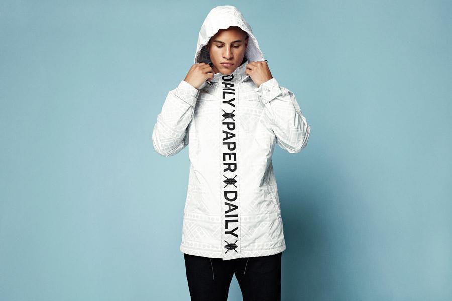 Daily Paper — bílá jarní/letní bunda s kapucí — pánská — jarní/letní oblečení 2016