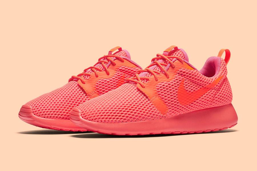 Nike Roshe One Hyper Breathe — dámské boty, tenisky — oranžové, růžové, pink, orange — běžecké sneakers