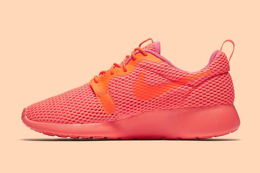 Nike Roshe One Hyper Breathe — dámské tenisky, boty — oranžové, růžové, pink, orange — běžecké sneakers