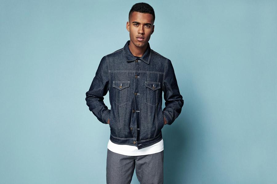 Daily Paper — modrá jeansová bunda do pasu — denim — jarní/letní oblečení 2016