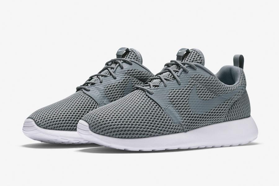Nike Roshe One Hyper Breathe — pánské boty, tenisky — šedé, grey — běžecké sneakers