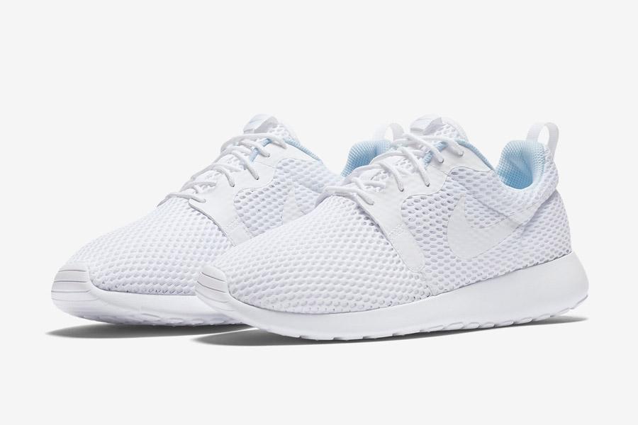 Nike Roshe One Hyper Breathe — dámské boty, tenisky — bílé, white — běžecké sneakers
