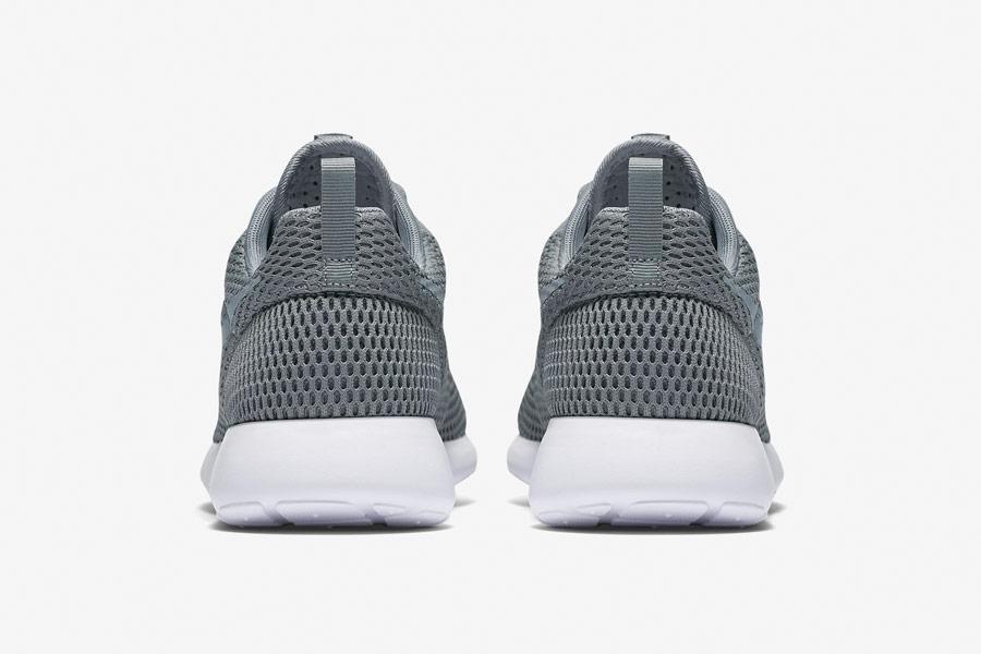 Nike Roshe One Hyper Breathe — zadní pohled — šedé, grey