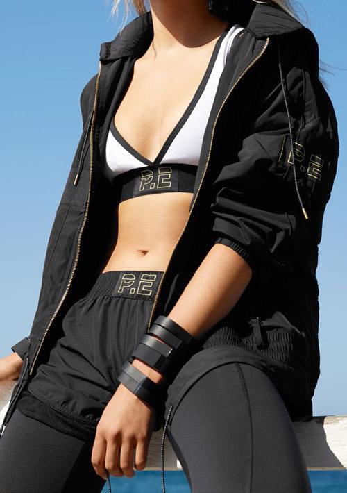P.E Nation — černé kraťasy, dámské — černá bunda — černé legíny — dámské sportovní oblečení