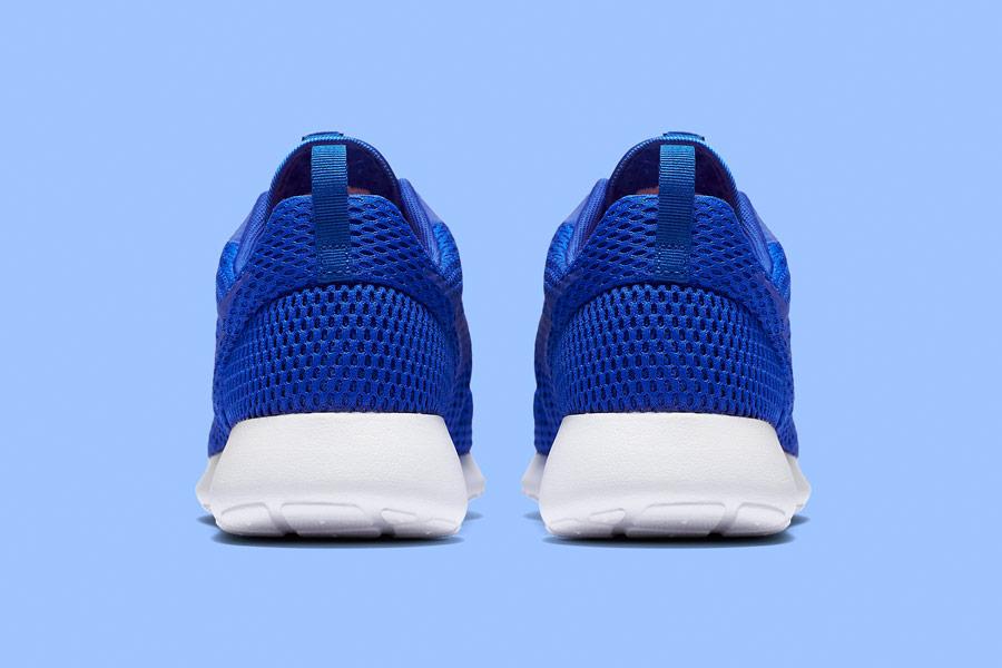 Nike Roshe One Hyper Breathe — zadní pohled — bmodré, blue