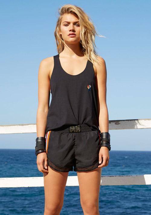 P.E Nation — černé tílko, dámské — černé kraťasy, dámské — dámské sportovní oblečení