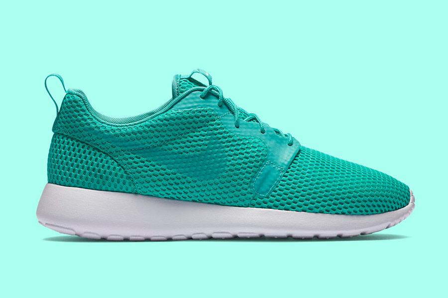 Nike Roshe One Hyper Breathe — pánské boty, tenisky — zelené, green, nefritové — běžecké sneakers