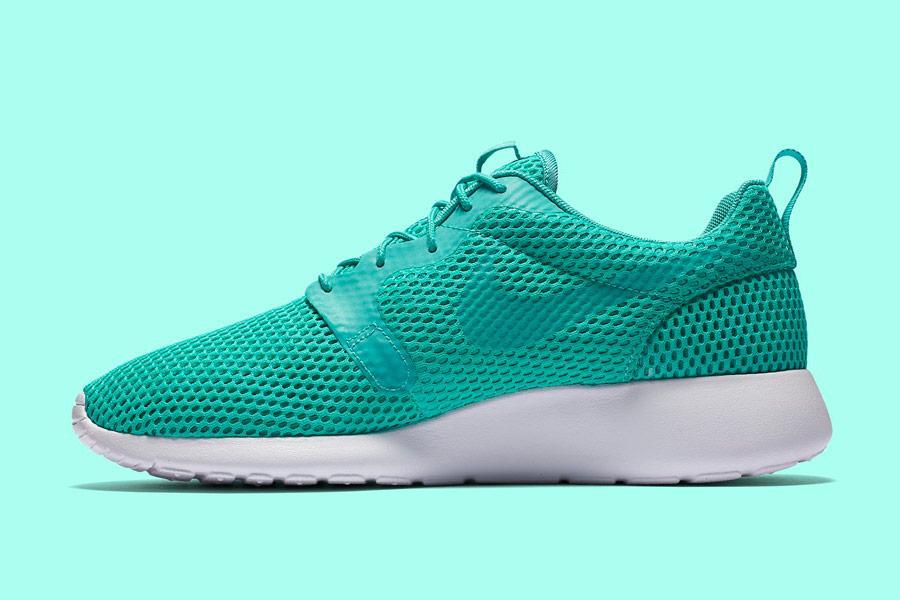 Nike Roshe One Hyper Breathe — pánské tenisky, boty — zelené, green, nefritové — běžecké sneakers