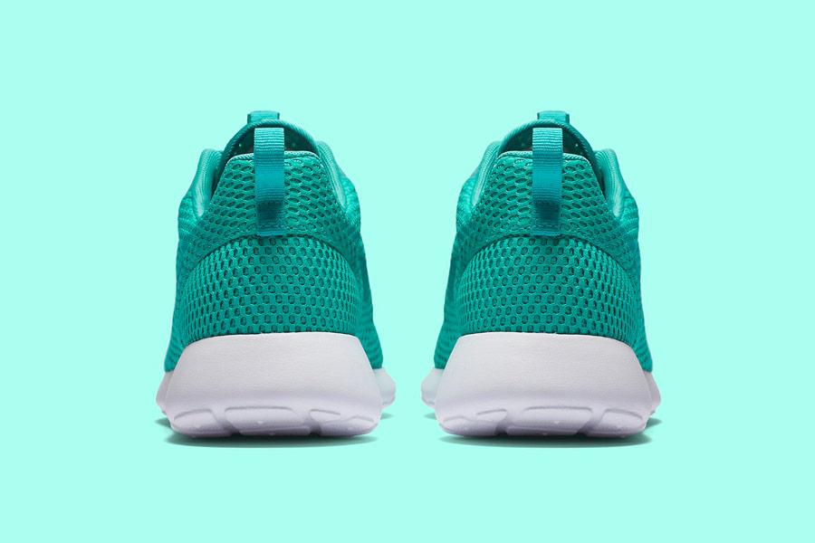 Nike Roshe One Hyper Breathe — zadní pohled — zelené, green, nefritové