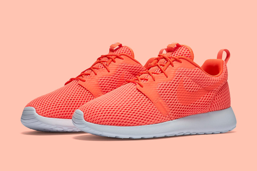 Nike Roshe One Hyper Breathe — pánské boty, tenisky — oranžové, karmínové, orange, crimson — běžecké sneakers