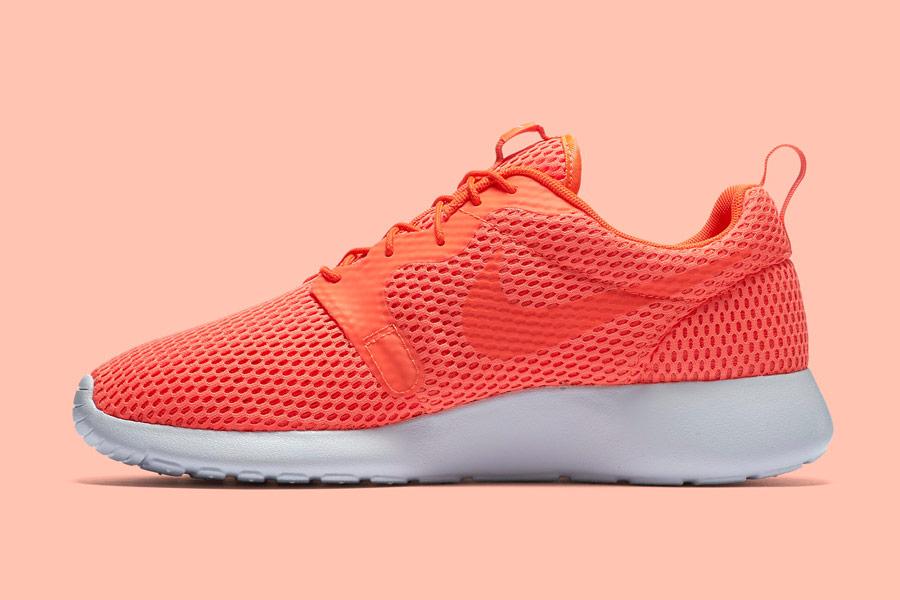 Nike Roshe One Hyper Breathe — pánské tenisky, boty — oranžové, karmínové, orange, crimson — běžecké sneakers
