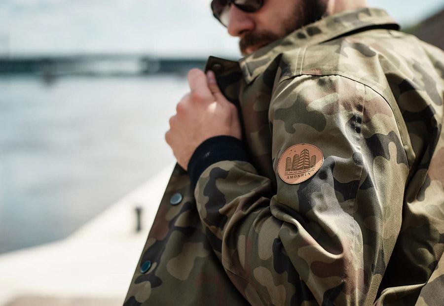 Amokrun — pánské bundy bez kapuce, plátěné, kabáty, Coach Jackets