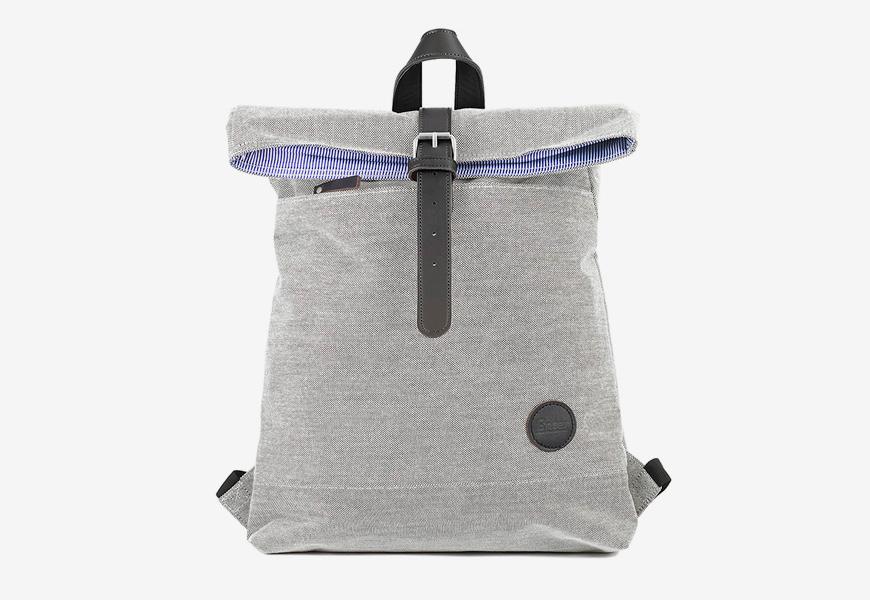 Plátěný batoh Enter Fold Top — šedý, černý, světle červený