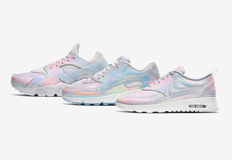 Nike Premium iD Iridescent — duhové boty, tenisky, sneakers — Nike Air Huarache, Nike Air Max Thea, Nike Air Max 90