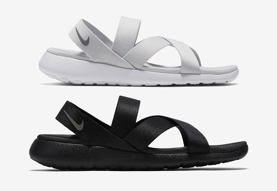 Dámské letní sandály Nike Roshe One — černé, bílé