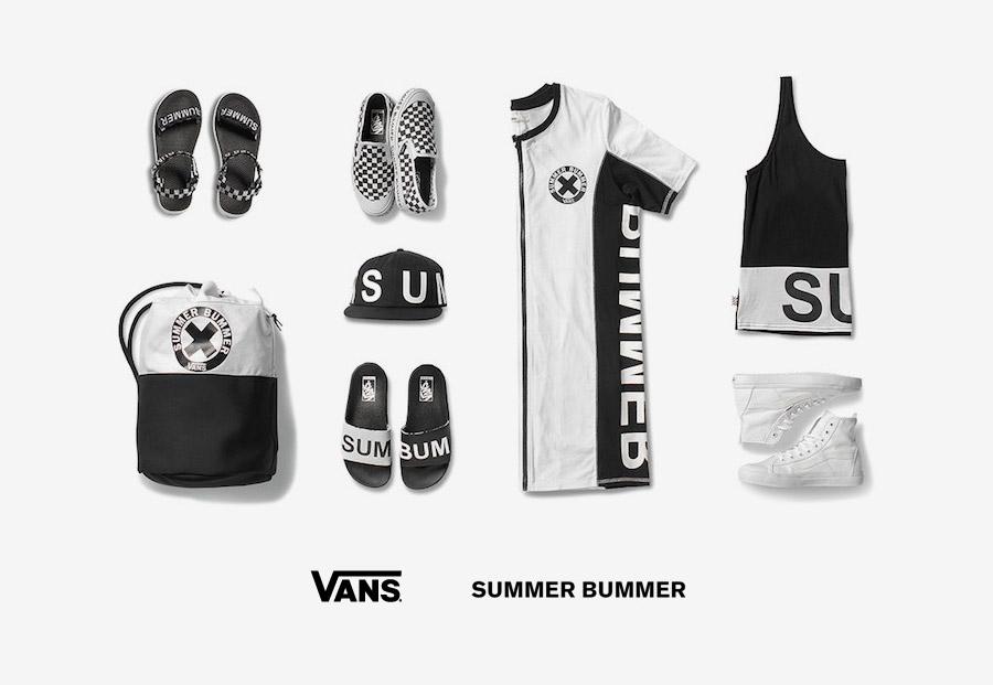 Vans x Summer Bummer — dámské letní oblečení, boty, pantofle, sandály, tenisky, kotníkové boty, kšiltovka, batoh, letní šaty, tílko