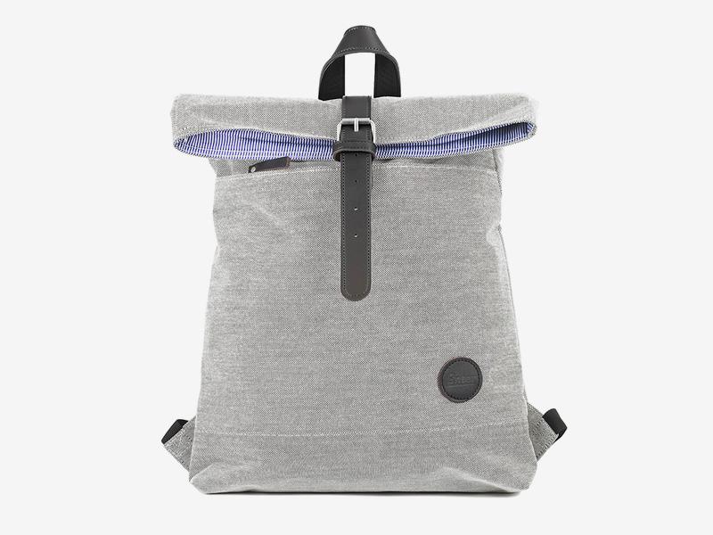 Enter — plátěný batoh — přehýbací — šedý — Fold Top Backpack