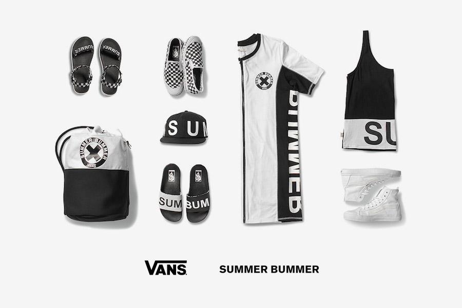 Vans x Summer Bummer — dámské letní oblečení, boty, pantofle, kšiltovka, batoh