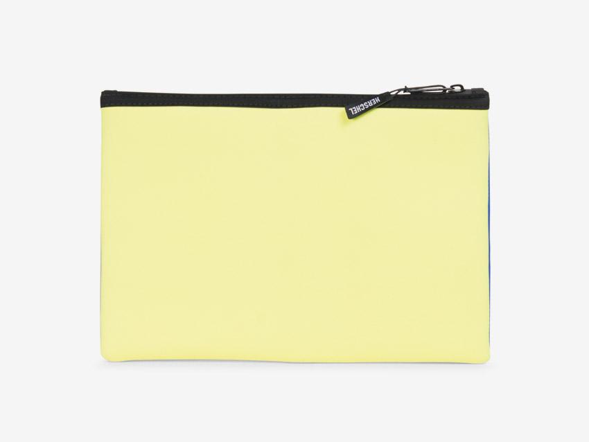 Herschel Supply — Network Pouch — neoprenové psaníčko, taštička — žluté, pastelové