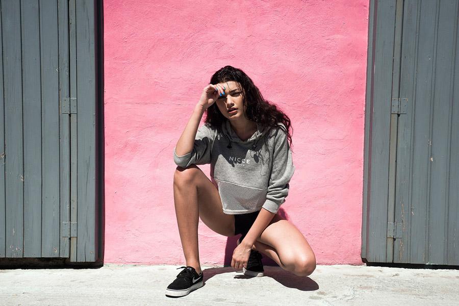 Nicce London — dámská mikina — melírová, šedá — dámské jarní/letní oblečení — lookbook
