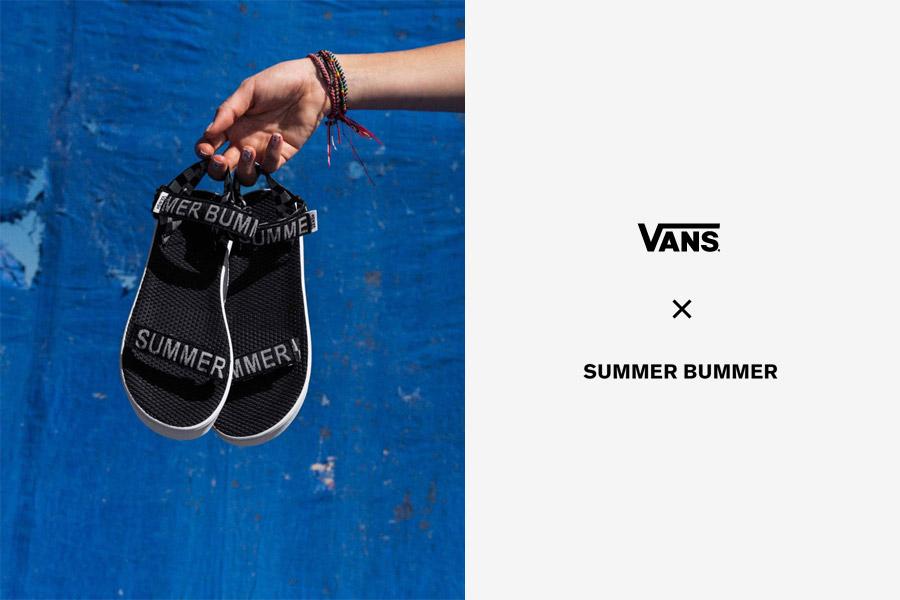 Vans x Summer Bummer — dámské plátěné kotníkové boty Dazie — černo-bílé dámské tílko Sum Bum Tank
