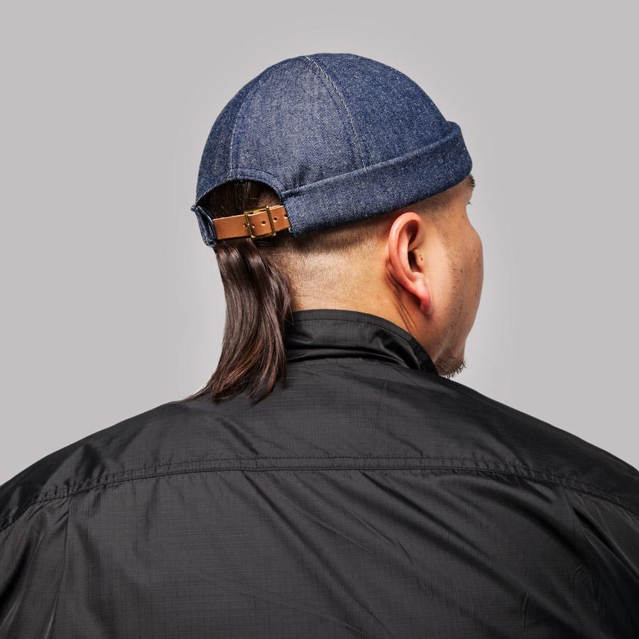 Publish — Desta Roll Cap — snapback čepice bez kšiltu — tmavě modrá — jeansová, džínová — snapback hat