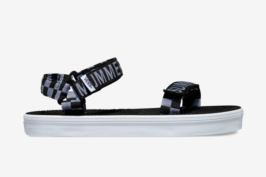 Vans x Summer Bummer — dámské sandálky Sandalia Sandals — černo-bílé