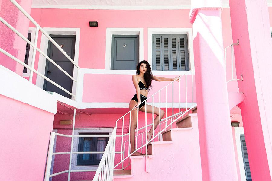 Nicce London — černá podprsenka, černé kalhotky — plavky — dámské jarní/letní oblečení — lookbook