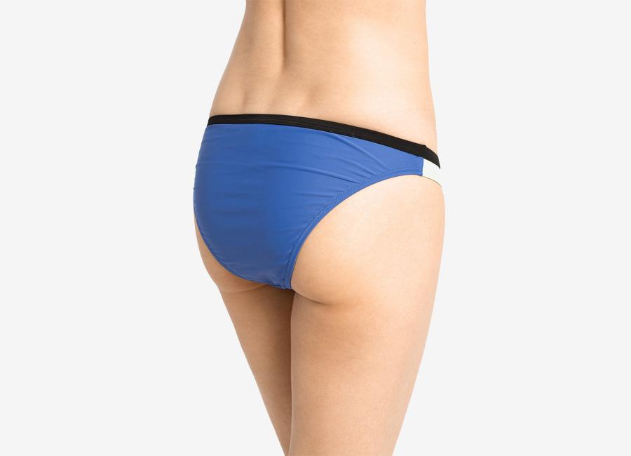 Pieces — dámské dvoudílné plavky — pastelové bikiny — modré, zelené