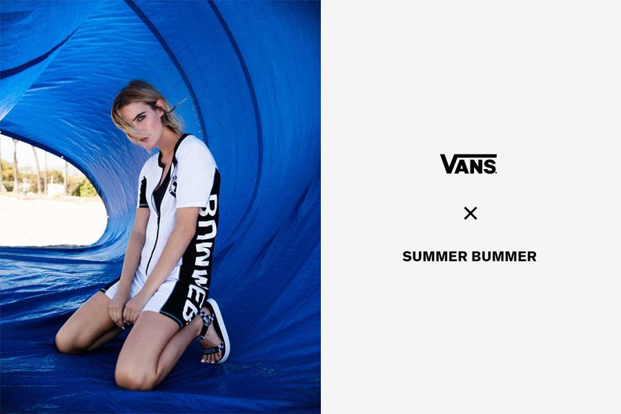 Vans x Summer Bummer — dámské sandály Sandalia Sandals — černo-bílé