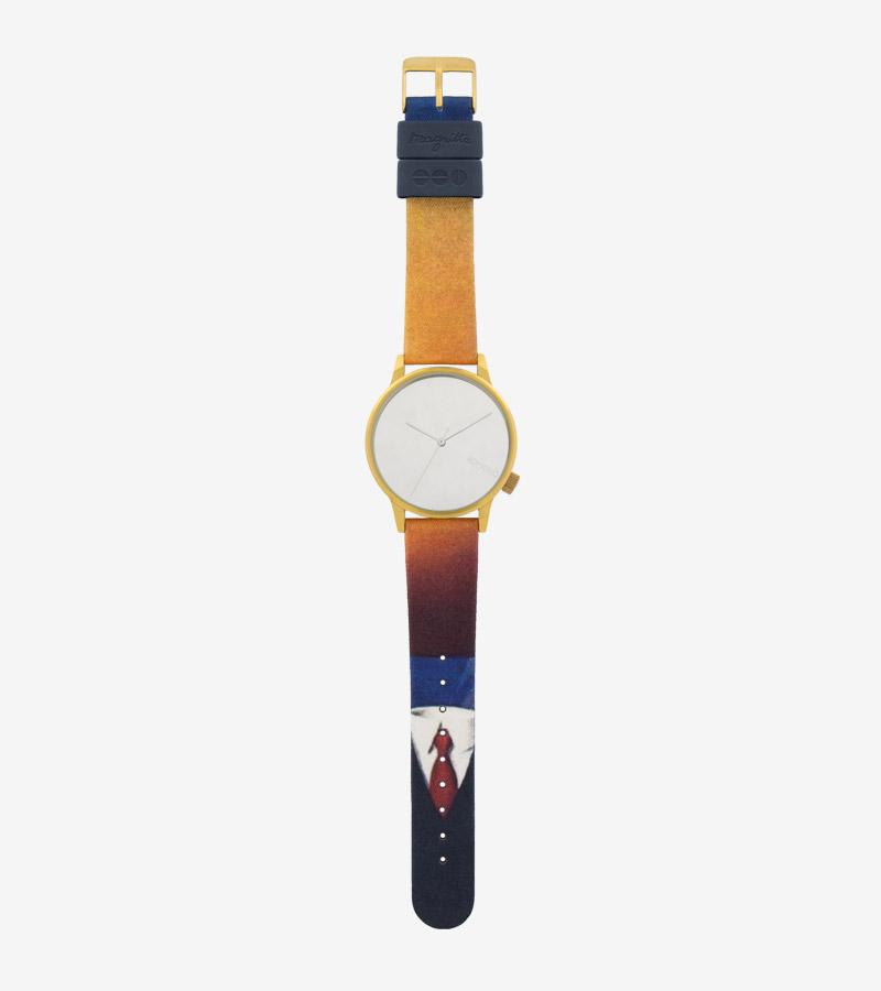 Komono x René Magritte — hodinky Winston — pánské, dámské — surrealistické motivy — The Art of Living — Umění žít