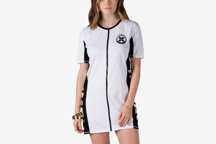 Vans x Summer Bummer — dámské letní šaty na zip — Sum Bum Zip Dress — bílé, černo-bílé