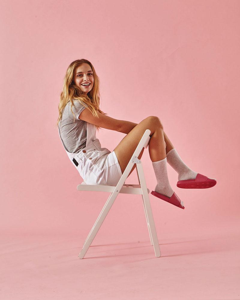 Slydes — dámské pantofle — červené — nazouváky, slides